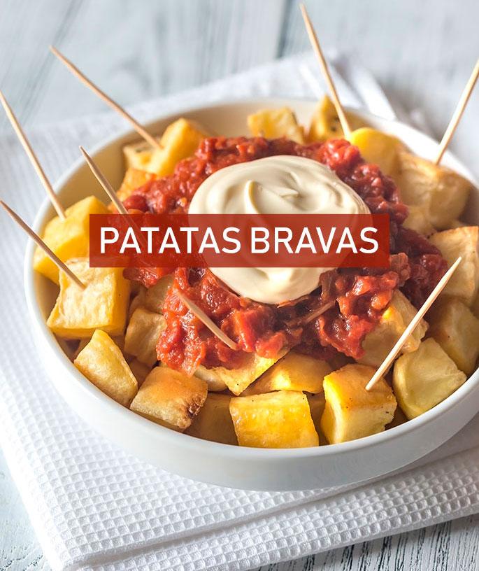 Como hacer patatas bravas 🍠[Receta + Ingredientes]